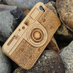 $13.89 Camera Pattern Wooden Case Cover For iphone 4S 4 Edealbest.com