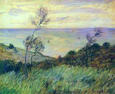 Cliffs of Varengeville, Gust of Wind, 1882. Claude Monet