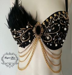 Black Enchanted Bra by SugarRoxCouture on Etsy on Wanelo