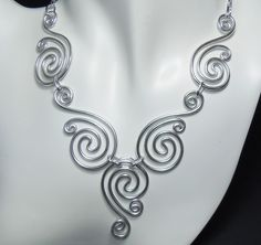 Spirals necklace. #wire #jewelry