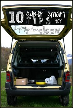10 Smart Interior Car Cleaning Tips- Tipsaholic. Clean your car like a pro with these easy to follow car care cleaning tips. #car #cleaning #getorganized