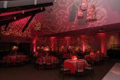 Swirly - Hot Pink - Bat mitzvah - Sweet 16 - Gobo - Ceiling lighting - Lighting design - DB Creativity - laura@Dbcreativity.com