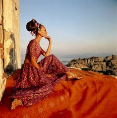 My Bohemian History ~ My Bohemian Style  Vintage fashion photo with model Veruschka