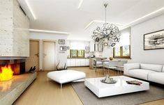 Projekt domu Jak marzenie 88,53 m2 - koszt budowy 83 tys. zł - EXTRADOM Conference Room, Living Room, Furniture, Home Decor, Drawing Rooms, Homemade Home Decor, Meeting Rooms, Home Furnishings, Drawing Room