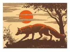 Fuchs (Holzschnitt) Kunstdrucke bei AllPosters.de