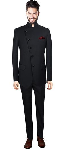 Nehru suit for men online,Black custom suits for men