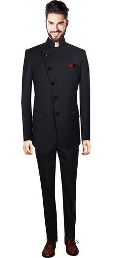 Nehru suit for men online,Black custom suits for men