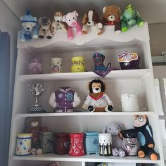 Painted a shelf to display my #Scentsy momentos from 8 years of convention/reunions and cause/charity products. I'm blessed and need more room!  EnjoySmartScents.com  #SuperStarDirectorAtWork #MDavisIndSSD