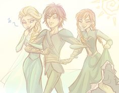 Sunny day by ASAMESHII.deviantart.com on. How To Train Your Dragon x Frozen.
