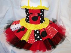 Disney or Bust Minnie Couture Tulle Skirt by CarolinaCreationsToo, $44.99