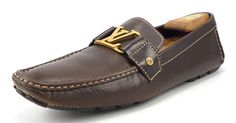 Louis Vuittons Mens Shoes 10, US 11 Monte Carlo Drivers FA0027 Brown