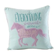 Horse Themed Bedrooms, Bedroom Themes, Girls Bedroom, Bedroom Ideas, Turquoise Pillows, Blue Pillows, Cowgirl Bedroom, Horse Bedding, Horse Galloping
