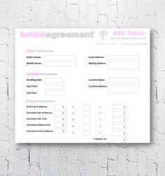 makeup artist invoice template
