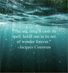 the sea, once it casts its spell. holds one in its net of wonder forever ~ Jacques Cousteau the sea, once it casts its spell. holds one in its net of wonder forever ~ Jacques Cousteau Jacques Cousteau, Romantic Love Quotes, Love Quotes For Him, Dh Lawrence, Summer Beach Quotes, Mermaid Quotes, Mermaid Pics, Mermaid Art, Sea Quotes