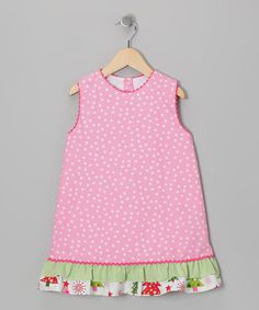 Take a look at this Pink Ruffle Jumper - Toddler & Girls by Candyland on #zulily today!