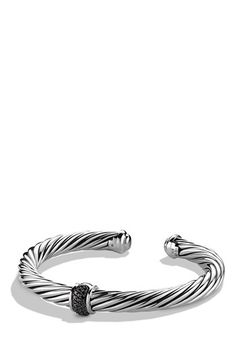 David Yurman 'Cable Classics' Bracelet with Black Diamonds available at #Nordstrom