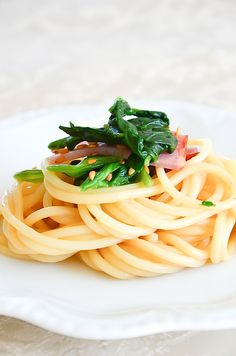 Soy sauce and butter spaghetti