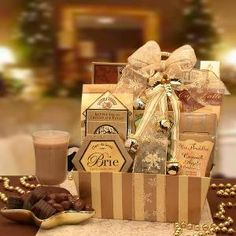 Golden Inspirations Christmas Gift Basket from www.wellappointedhouse.com