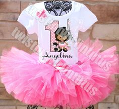 Paris Birthday Tutu Outfit | Paris Birthday Party | Paris Birthday Party Ideas | Paris First Birthday | Birthday Party Ideas for Girls | Twistin Twirlin Tutus #parisbirthday