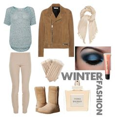 """Winter Fashion"" by alexandraanastasiap-1 ❤ liked on Polyvore featuring Great Plains, The Row, Isabel Marant, Journee Collection, UGG Australia, Yves Saint Laurent, Bobbi Brown Cosmetics and Balmain"