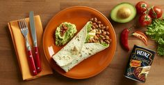 Heinz Creationz Mexican Beanz - Best Sizzling Beanz Fajita. Give your meal-time wrap that extra 'arriba' with Heinz Creationz Mexican Beanz. You'll thank us later!