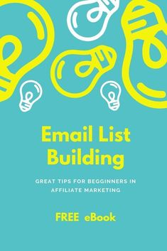 A FREE eBook about list building which has some great tips for people that are starting out in Affiliate Marketing. As they say the money is in the list. So building you own email list is very important. Internet Marketing, Online Marketing, Digital Marketing, Blockchain, Elevator Pitch, Software, Cool Writing, How To Get Money, Earn Money