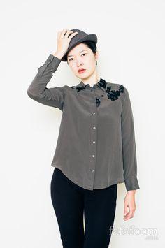 Make It Pretty: DIY Lace Appliques on a Blouse