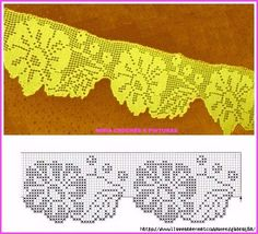 Crochet Art added a new photo. Crochet Boarders, Crochet Lace Edging, Crochet Art, Thread Crochet, Crochet Doilies, Crochet Flowers, Crochet Stitches, Filet Crochet Charts, Crochet Edgings