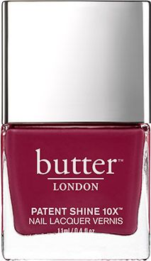 I recently developed a SEVERE allergy to nail polish, even those that promised no reactions. BUTTER LONDON's Patent Shine 10X Nail Lacquer (10X because it's missing the 10 common allergy-causing chemicals in polish) passes this Miss Ultra-Sensitive's test.