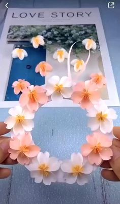 Paper Flower Garlands, Paper Flowers Craft, Flower Crafts, Diy Flowers, Origami Flowers, Diy Cards With Flowers, Names Of Flowers, Simple Paper Flower, Easy Origami Flower