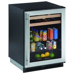 U-line Origin Series 6 Cu. Ft. 16 Bottle Digital Built In Beverage Center - Stainless Steel