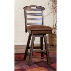 """Check out the Sunny Designs 1866DC-30 Santa Fe 30""""H Swivel Barstool in Dark Chocolate priced at $297.50 at Homeclick.com."""