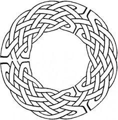 Circular Celtic knot