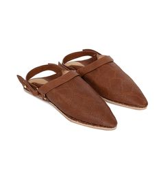 SAO - Babouche with sling back - Brown snake Cow Leather, Slippers, Footwear, Brown, Fashion, Kaftan, Moda, Shoe, Fashion Styles