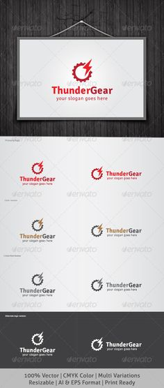 Thunder Gear Logo #GraphicRiver It's Good Looking Simple logo Template. It's used Any kind's of Company to related this idea. Featured: AI CS3 Document EPS CS & v10 Document CMYK – 100 % Vector (Re-sizable) 8 Variations Free Fonts used: signika You Can Download Here: .fontsquirrel /fonts/signika Enjoy, vote if you like it. Created: 21May13 GraphicsFilesIncluded: JPGImage #VectorEPS #AIIllustrator Layered: Yes MinimumAdobeCSVersion: CS Resolution: Resizable Tags: apparatus #appliance #bolt…