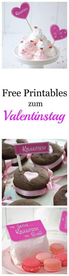 Freebie zum Ausdrucken und Auschneiden zum Valentinstag   by Decorize