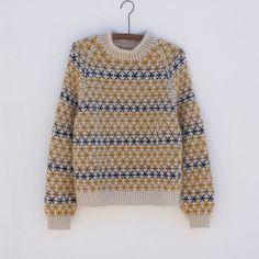 COLOURED CROSSES SENIOR (english) — Anne Ventzel Norwegian Knitting, Men Sweater, Jumper, Work Tops, Mulberry Silk, Nordic Style, Girls Sweaters, Knitwear, Knitting Patterns