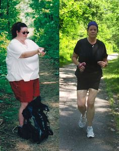before & after {great Motivation! You're doing great Laurie!}