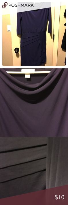 Purple pleated dress Dark purple dress. Great for the office. Has stretch to it and is so flattering New York & Company Dresses