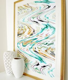 "Got this in the Grande size. Thinking it would look fab in the living room :) ""Lucid Surf"" art print by COZAMIA   #art, #decor, #cozamia"