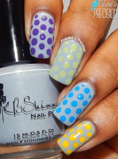 KBShimmer Spring 2014 Cremes Skittles Dotticure  | Check out http://www.nailsinspiration.com for more inspiration!