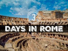 Your City Guide to Rome, Italy. All the places you can't miss during your 3 days in Rome. Rome itinerary, Best site in Rome, Italy.