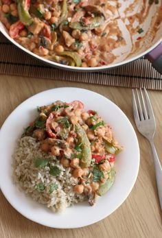 butter chickpea curry - just a couple of spoonfuls of peanut butter ...