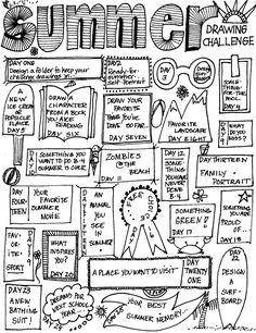 MizzSmiff's Art Room: Summer Drawing Challenge