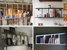 Ladder horizontal shelves