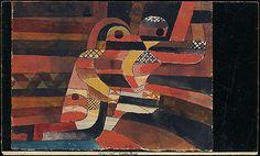 Lovers  Paul Klee (alemán (nacido en Suiza), Münchenbuchsee 1879-1940 Muralto-Locarno)  Fecha: 1920 Medio: Gouache y grafito sobre papel Dimensiones: H. 9-3/4, W. 16 pulgadas (24,8 x 40,6 cm.) Clasificación: Dibujos Línea de crédito: La Colección Berggruen Klee, 1987