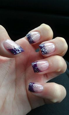 Purple is a great color. If you have a dress in this color, have the salon imitate these nails for a great homecoming look.