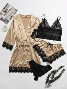 Cute Sleepwear, Sleepwear Women, Pajamas Women, Lingerie Sleepwear, Nightwear, Lace Lingerie Set, Pretty Lingerie, Lingerie Dress, Teen Fashion Outfits