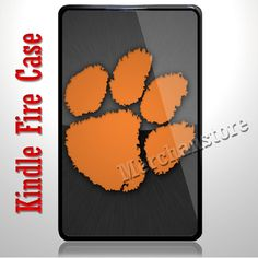 Clemson University Tigers Logo Kindle Fire Case | Merchanstore - Accessories on ArtFire