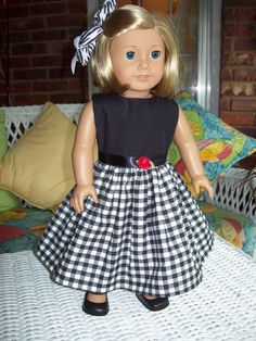 American Girl  doll or 18 inch doll dress and hair by ASewSewShop, $14.99